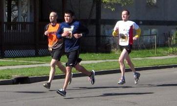 Jim running Bloomsday
