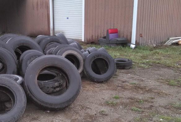 redneck tire stash
