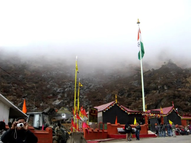 New Baba Mandir - A road trip from Gangtok to Nathula at an altitude of 14,400 feet