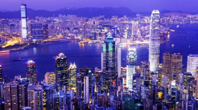 Hong Kong Victoria Harbor at Night