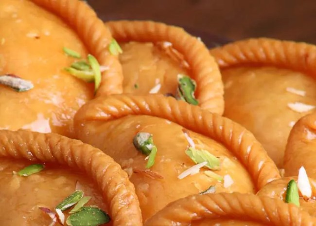 Gujiya (sweet) - How I got high on Holi-the festival of vibrant colors - By Voyager