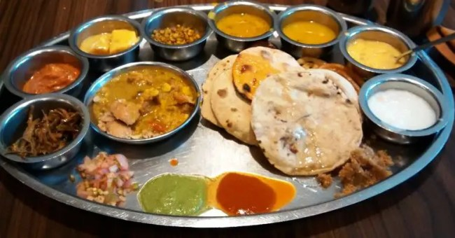 Breakfast Lunch Gujarati Thali