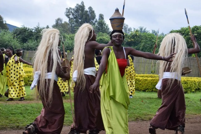 Afrcan Dancers at Volcanoes National Park, Rwanda