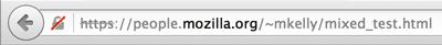 Firefox gray padlock