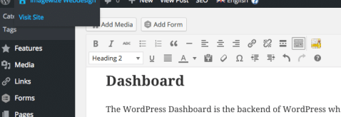 From The WordPress Dashboad To The Frontend