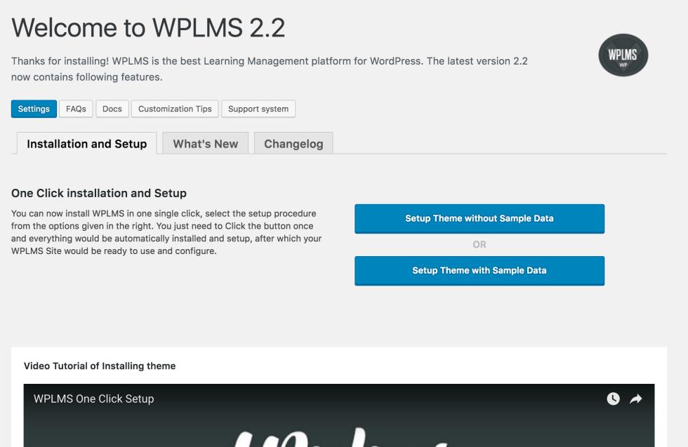 WPLMS Setup with Sample Data