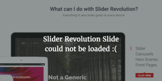 Slider Revolution Slide Could Not Be Loaded – Possible Fix