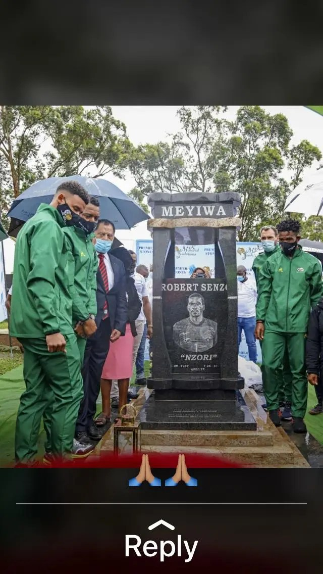 Senzo Meyiwa's Family Responds To Late Star's Tombstone Being Destroyed