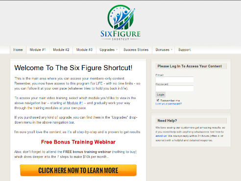 Six Figure Shortcut