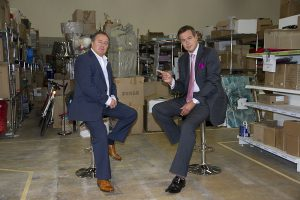 Chris Dawson meets Peter Jones two high net worth entrepreneurs