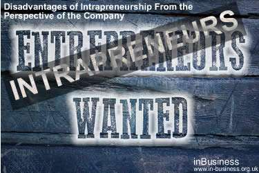 Intrapreneurship Definition - Disadvantages of Intrapreneurship From the Perspective of the Company