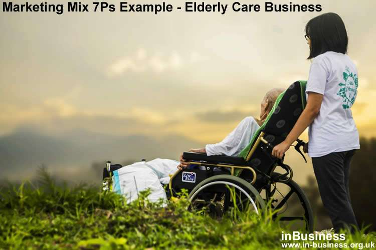 Marketing Mix 7Ps Example - Elderly Care Business