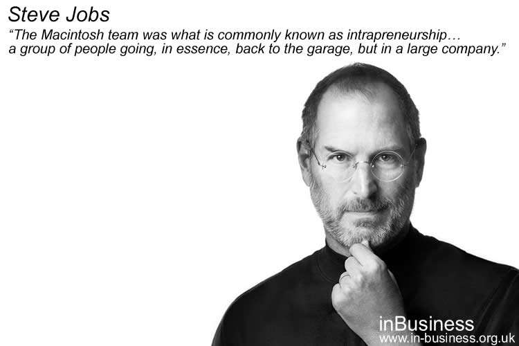 Examples of Intrapreneurship - Steve Jobs Apple Computers