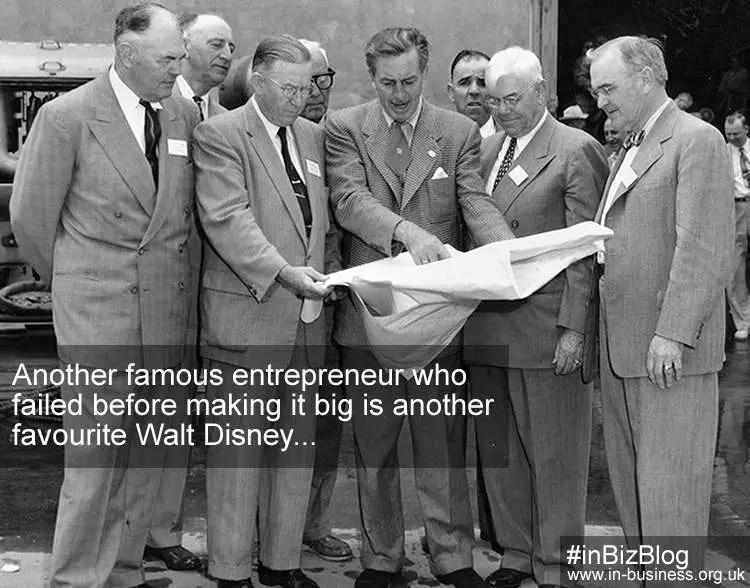 Famous entrepreneur failed before making it big Walt Disney