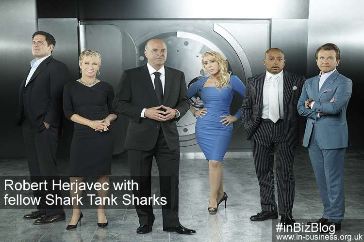 Shark Tank Robert Herjavec with fellow sharks
