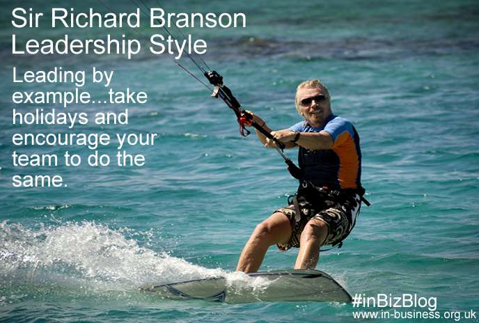 Sir Richard Branson Leadership Style Leading by example