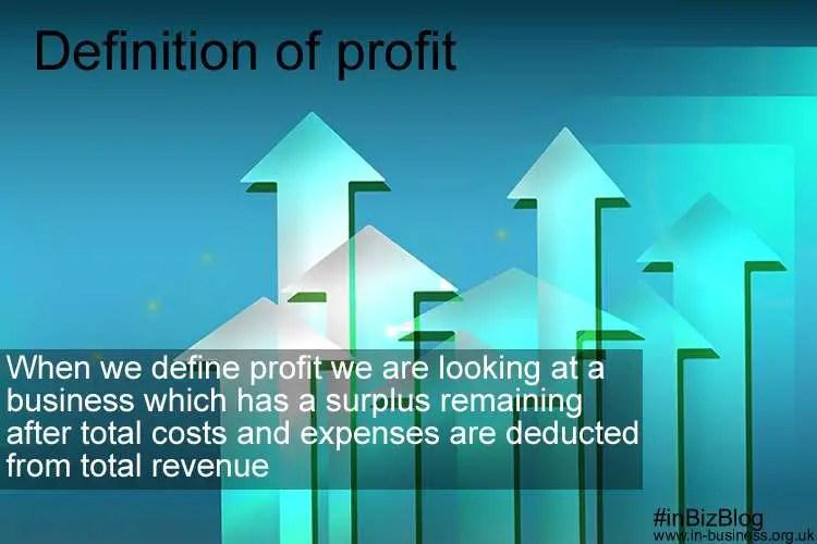 Definition of profit