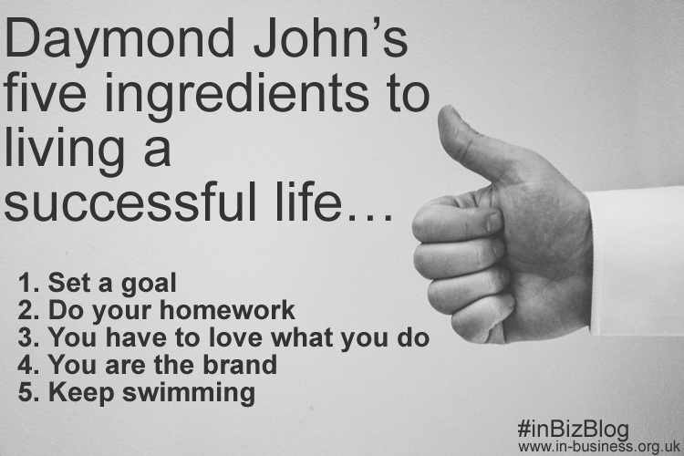 Daymond John five ingredients to living a successful life
