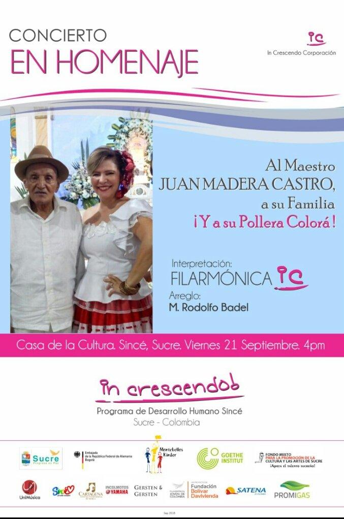 Concierto en homenaje al maestro Juan Madera Castro