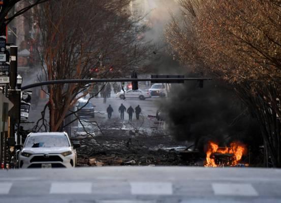 Το μηχανοκίνητο σπίτι εκρήγνυται στο Νάσβιλ, πιθανά ανθρώπινα λείψανα βρέθηκαν κοντά στο χώρο