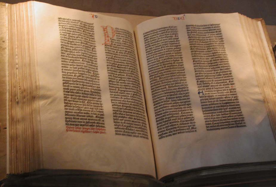 Photo de la Bible de Gutenberg