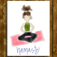 namaste yoga greeting card
