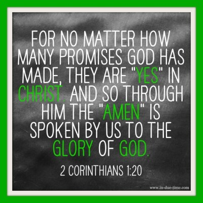 Memory Monday for God's promises in 2 Corinthians 1:20