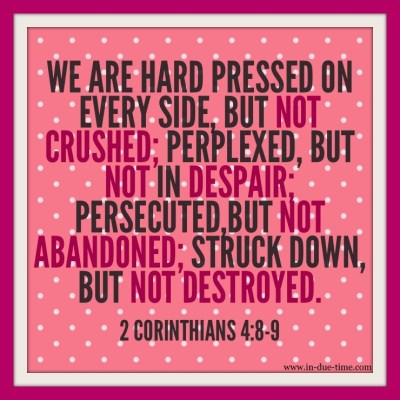 2 Corinthians 4:8-9 Memory Monday Verse