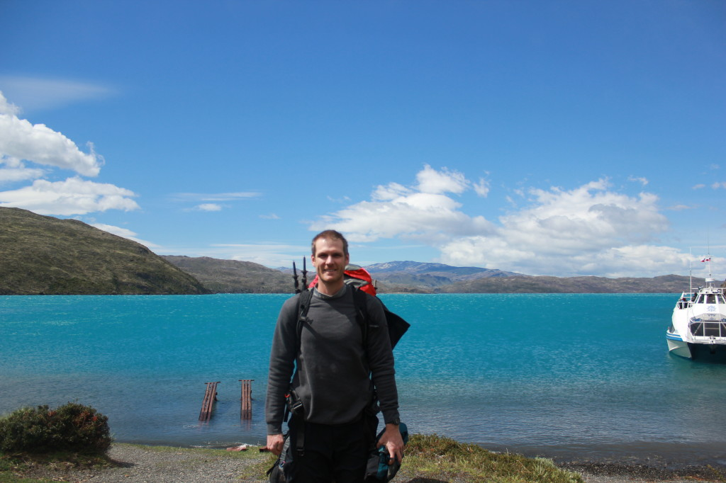 Day 1 of our 3 day Torres Del Paine Hike - After being dropped off from catamaran