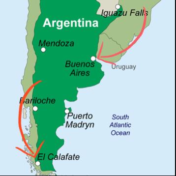Buenos Aires, El Calafate, El Chalten Argentina
