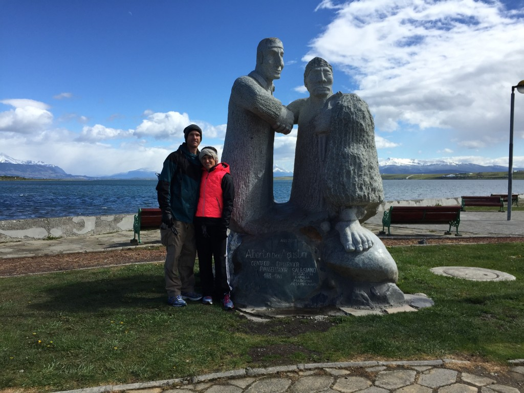 The obligatory 'it's a statue let's take a pic' picture. Puerto Natales