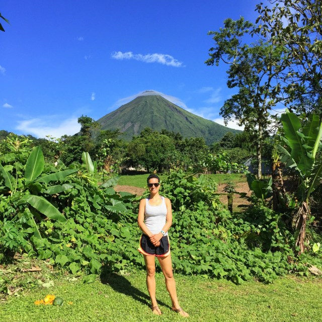 View of Arenal Volcano from our backyard!