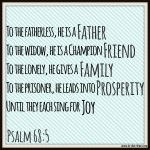 Psalm 68:5 – Sing for Joy – #111