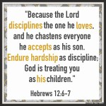 Hebrews 12:7 Hardship as Discipline  #132