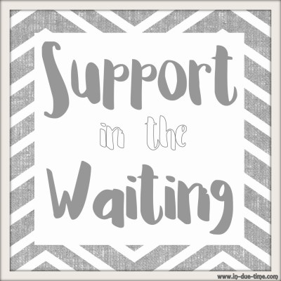 Support in the Waiting - In Due Time blog