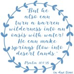 Psalm 107:35-36 Oasis with Water #178
