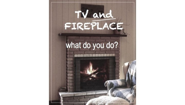 tv and fireplace in one room, how to arrange the furniture