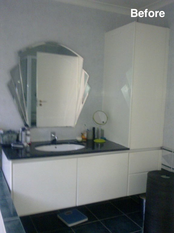 ensuite vanity before