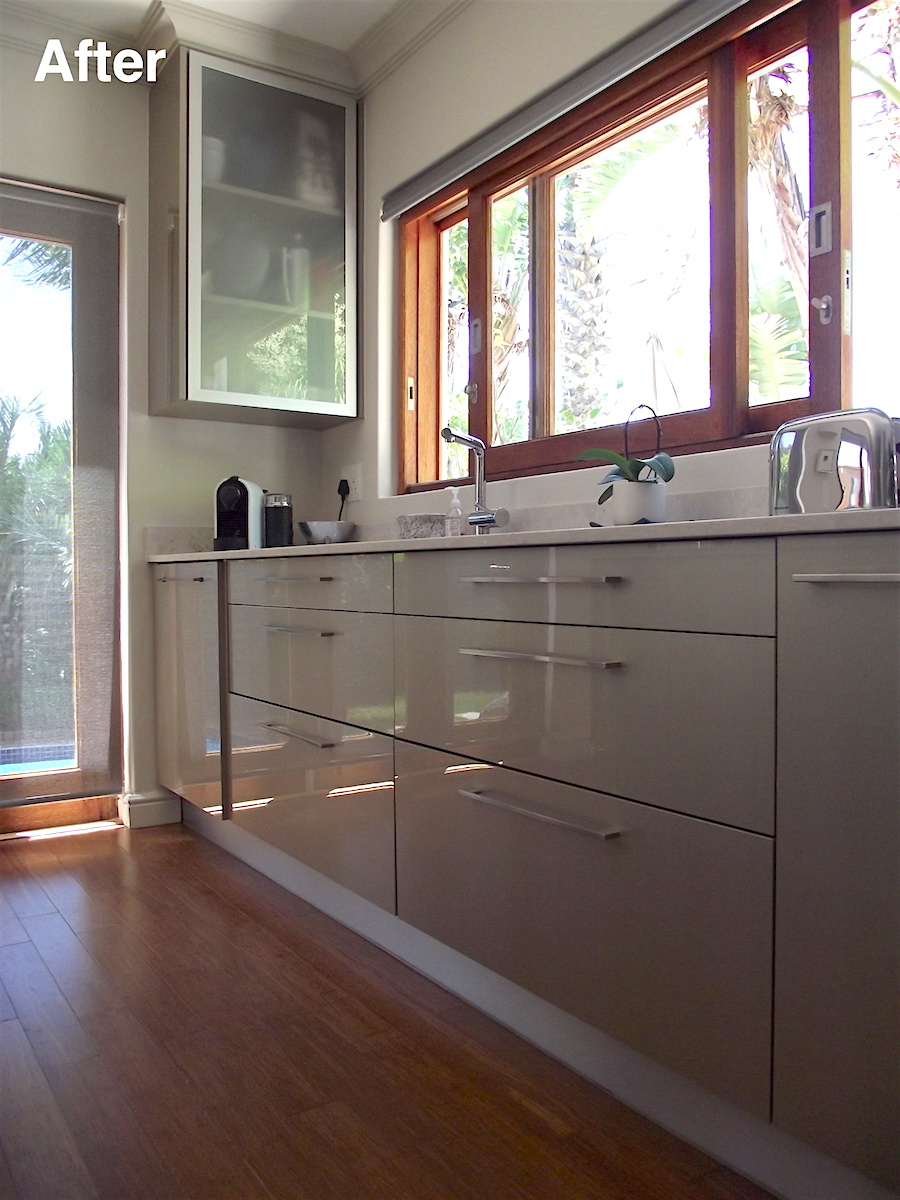 open plan kitchen after