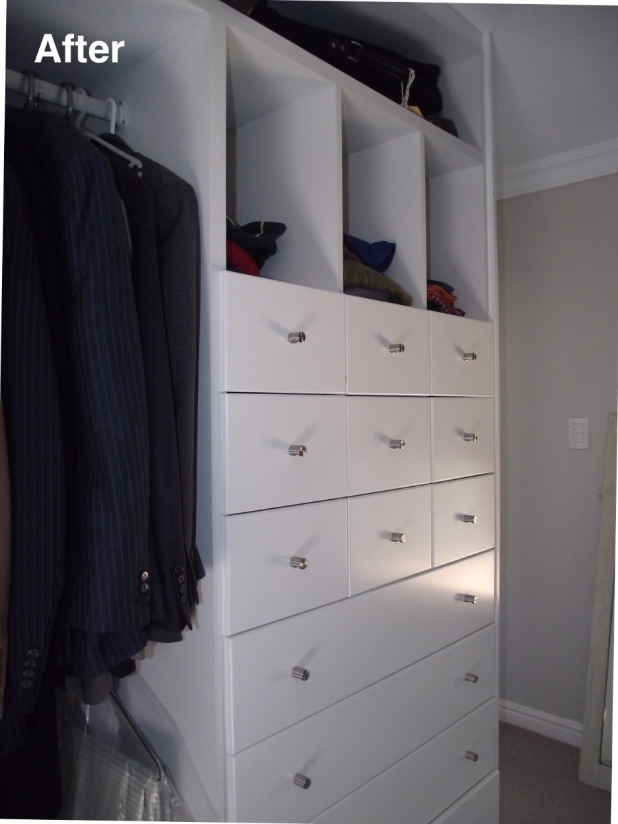 wardrobe with drawers after