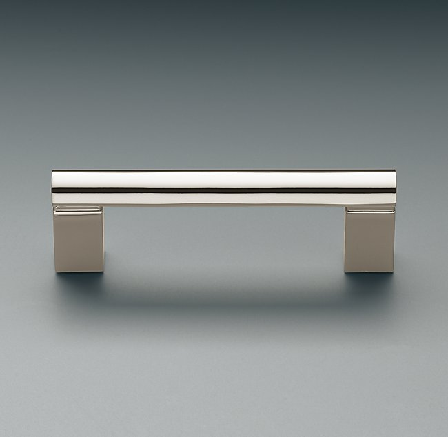 Kitchen upgrade cabinet hardware contemporary pull handle polished nickel