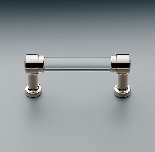Kitchen upgrade cabinet hardware chrome and clear glass