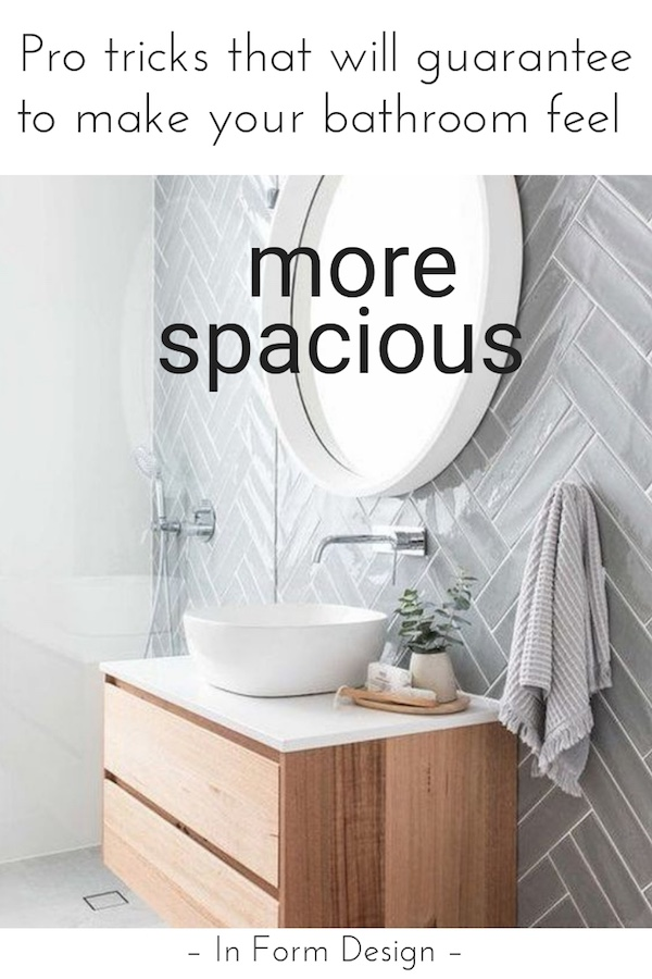 Tricks that will guarantee to make your bathroom feel more spacious