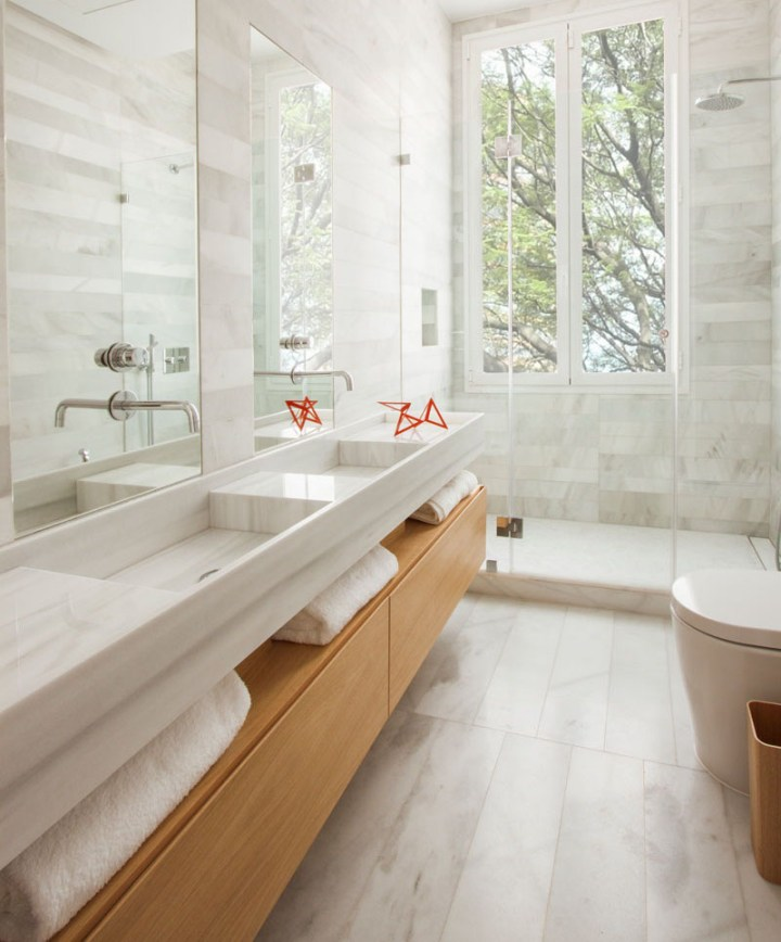 add more space to your bathroom uncluttered windows large mirrors maximise light