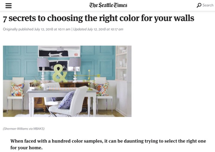 7 secrets to choosing the right color for your walls