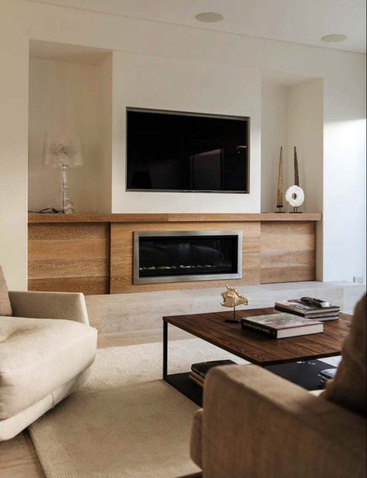 TV and fireplace in one room where to place the TV above the fireplace