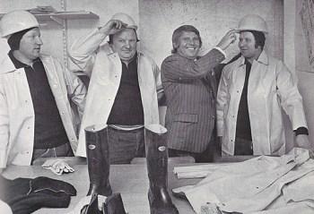 Franz Weissenberger mit Mitarbeitern.