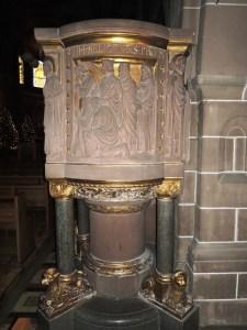 Die Kanzel in der Laurentiuskirche