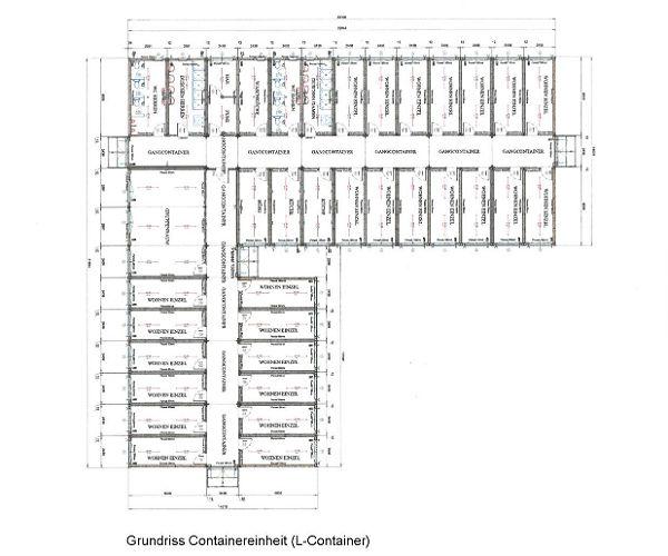 Die Anlage besteht aus drei zweistöckigen Blöcken