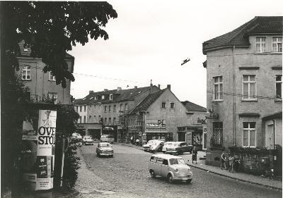 Blick aus der Nikolausstraße in die Hauptstraße. Foto: Willi Fritzen